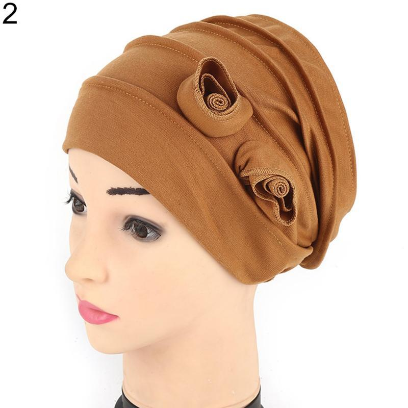 Fashion Weaving Women Crochet Cotton Flower Knitting Beanie Hat Baggy Warm Cap Mbrnp