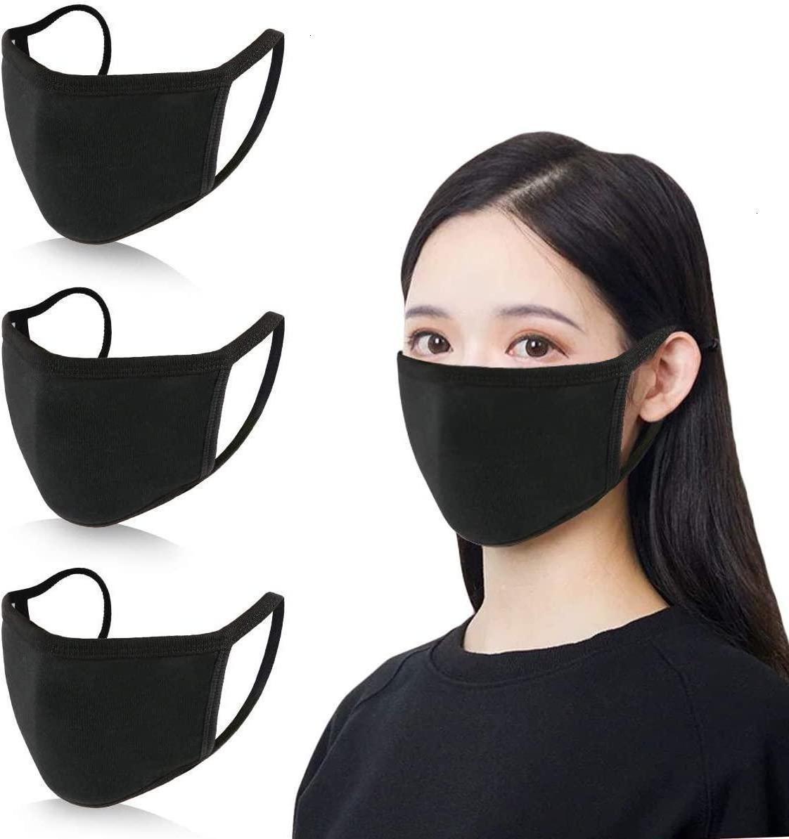 Маски маски дизайнер против пыли хлопчатобумажный рот лицо черный защитный унисекс одноразовый человек мужчина женщина носить черную моду быстрая доставка