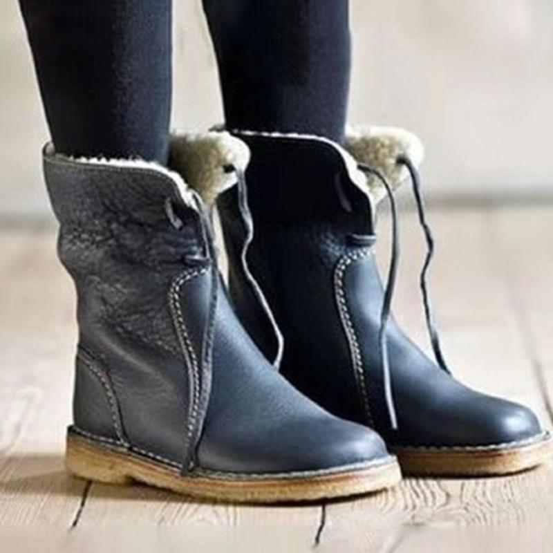 Женщины Сапоги Зимние теплые ботинки снега Faux женщин Женский Зимняя обувь Botas Плюшевые обувь