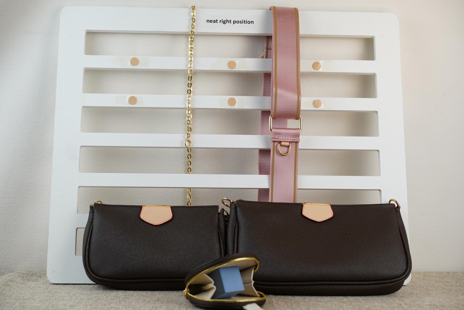 총 3 조각 / 세트 좋아하는 멀티 포크 액세서리 가방 오래 된 꽃 패턴 스타일 숙 녀 지갑 어깨 크로스 바디 가방 공장 가격
