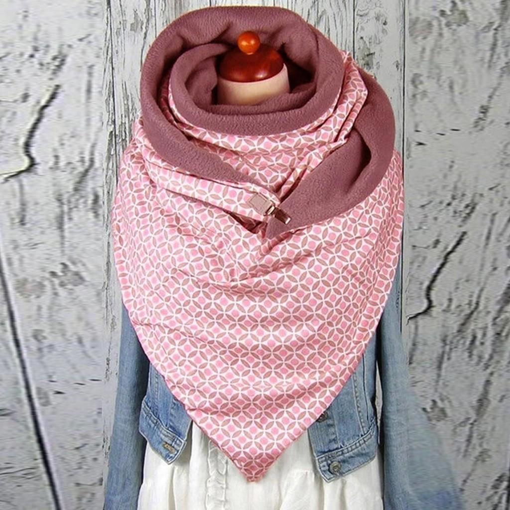 Scarf Mulheres Moda feminina Soild Estrela Impressão Botão macio Enrole Casual Quente Cachecóis Xailes Y201007