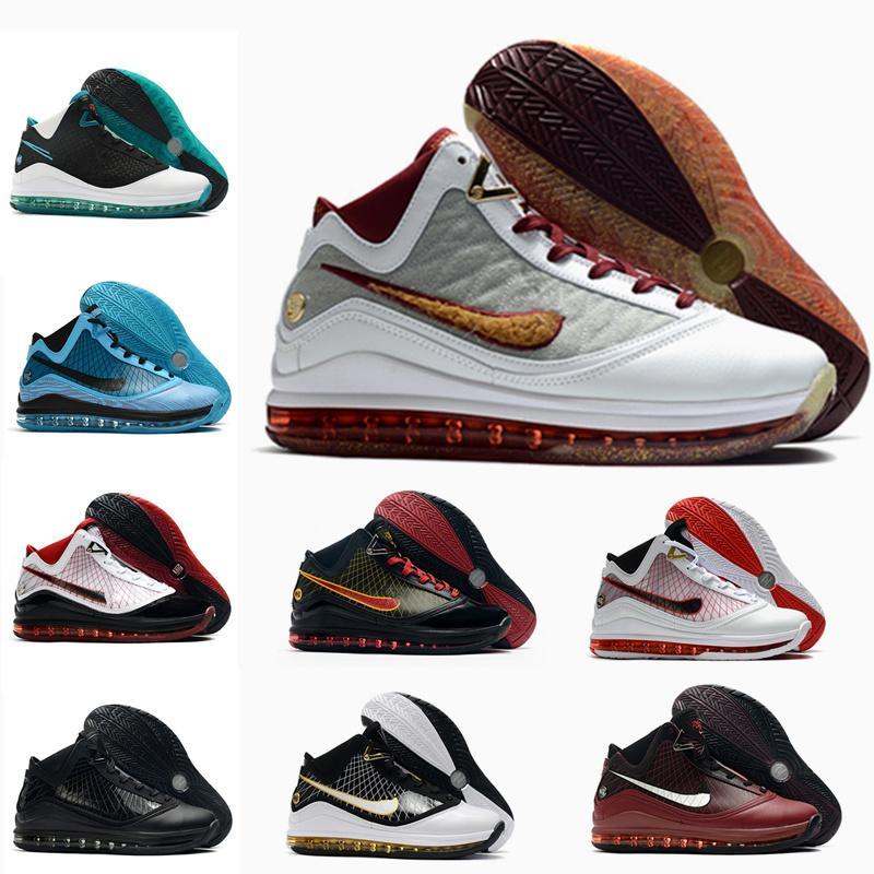 2020 Yeni Lebronlar 7 Basketbol Ayakkabı Taze Bred Kral Eiterit Lightyear Lebron Sneaker 7 S Jade Erkekler Sneaker Trainer