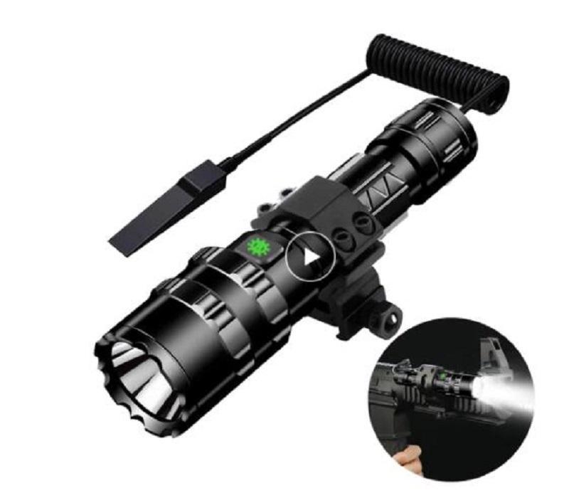 L2 tactique lampe de poche 1600 Lumens USB rechargeable torche étanche chasse lumière avec chasse Clip Accessoires de prise de vue