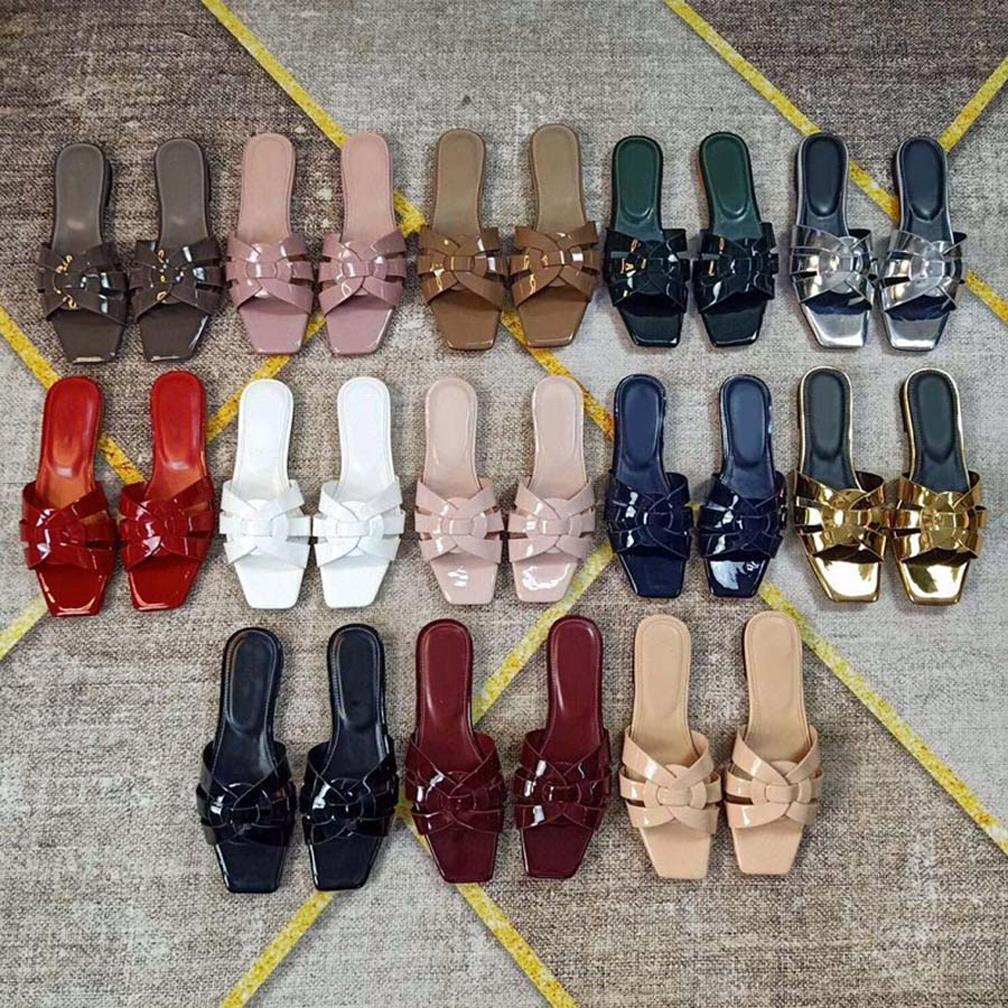 Moda Kadın Ayakkabı Sandalet Slaytlar Yaz Flats Seksi Gerçek Deri Platformu Sandalet Flats Ayakkabı Bayanlar Beach Ayakkabı SH008 Y01
