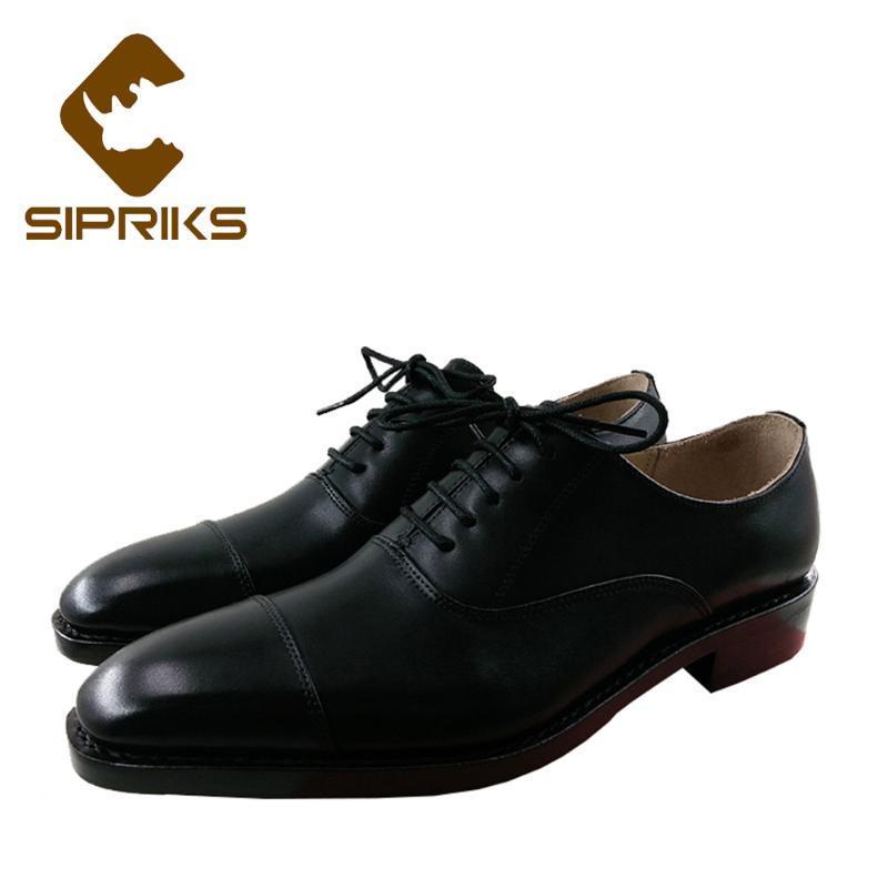 Sipriks Роскошные мужские церкви обувь Итальянская Handmade Шитье Фальцовые модельная обувь Элегантный черный кожаный конторской работы для мужчин