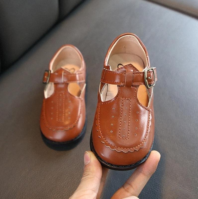 Bambini britannici ragazzi di stile di scarpe di cuoio cucito bambino Pattini casuali bambini Sandali autunno inferiore molle Slittamento di cuoio di sport non per i bambini G SlHL #