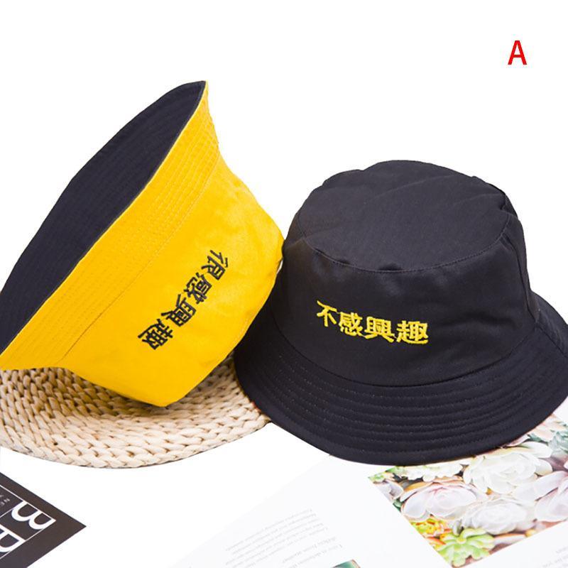 Commercio all'ingrosso unisex moda hip hop uomini tappi estivi due laterale reversibile giallo spiaggia secchio da pesca secchio cappello T200116