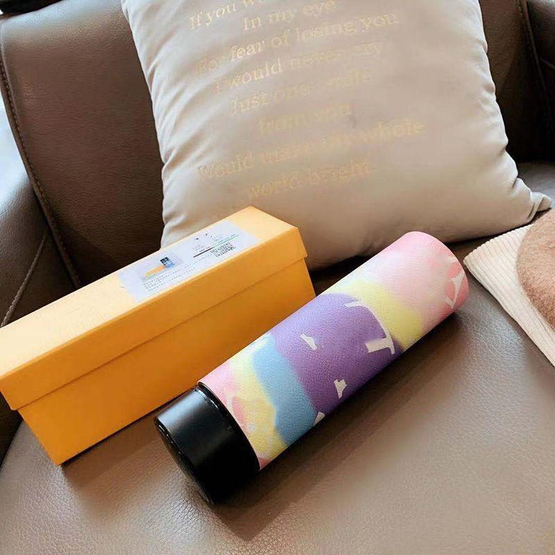 Yeni Gelenler Moda 304stainless Süt Akıllı Çelik LCD Kahve Şişeleri Çay Ekran Kupası Dokunmatik Paslanmaz Kupa Termal Termos Şişe Vakum Suyu
