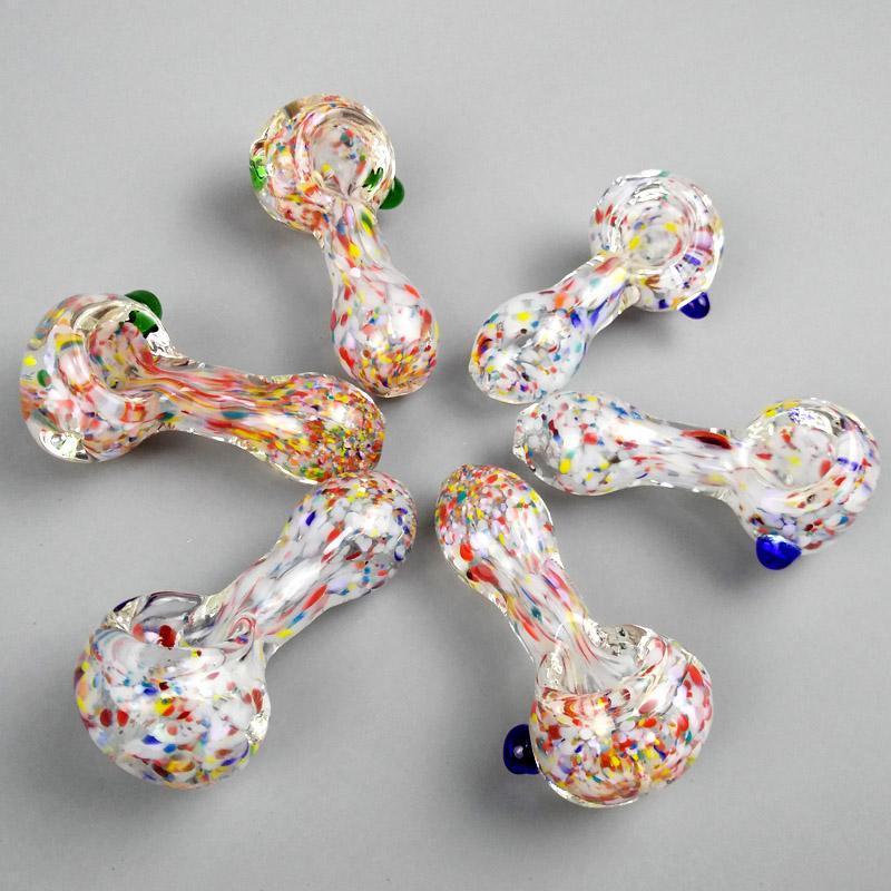 Труба из стекла Трубы для курения стеклянные ложки трубы стеклянные нефтяные горелки трубы мини-водопроводные трубы водяные бонги удобные аксессуары дыма