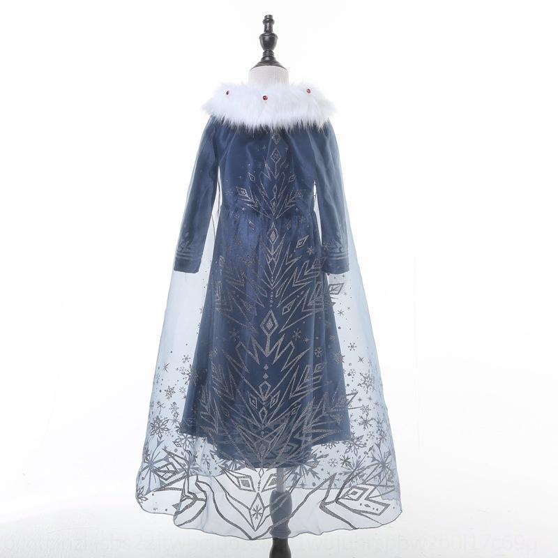 XW8GO Girls 'Ice и Snow Wonderland Aisha платье 2019 новых девушек принцесса Анна платье