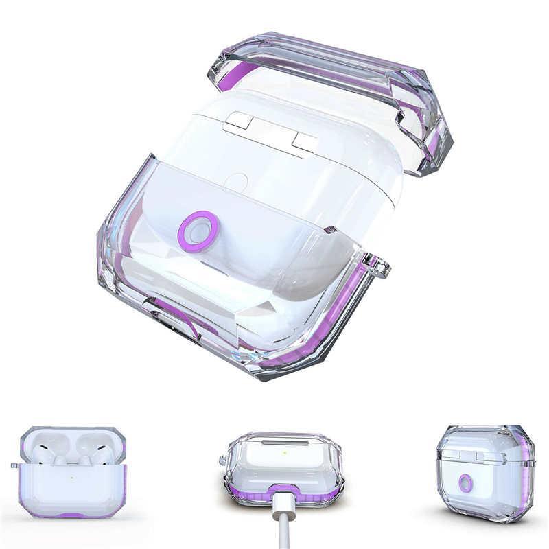 Apple Air Pods Pro için Şeffaf TPU Kılıf Perakende Paketi ile Airpod Koruyucu için Tüm Önleme