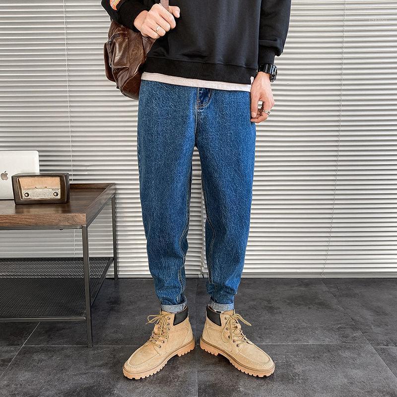 Корейский хлопчатобумажный гарем джинсы мужские моды ретро повседневные джинсы джинсы мужские джинсы на улице свободный хип-хоп джинсовые брюки мужские s-2xl1