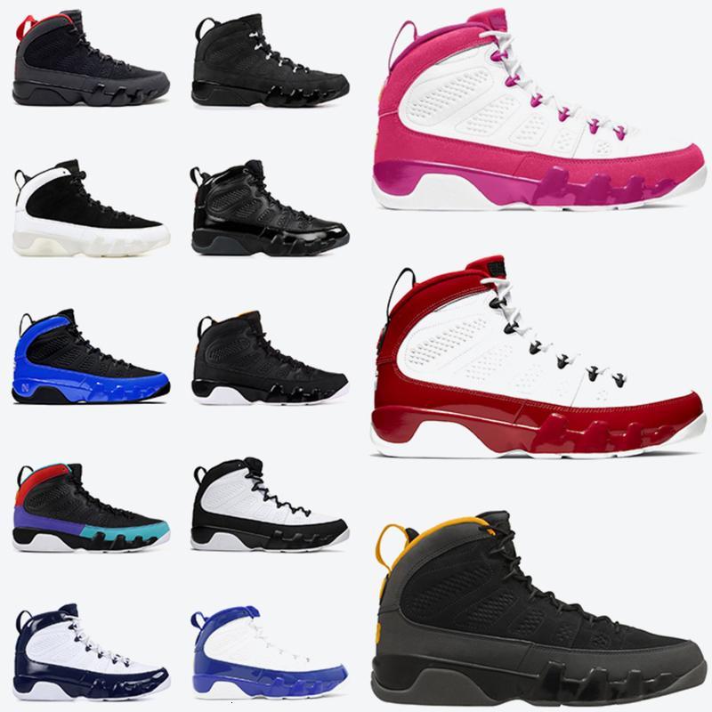 أزياء Jumpman 9 أحذية رجالي كرة السلة 9S رياضة مدينة ريد مدينة الرحلات الذهبية Racer Blue Chameleon مدربين رياضي رياضي