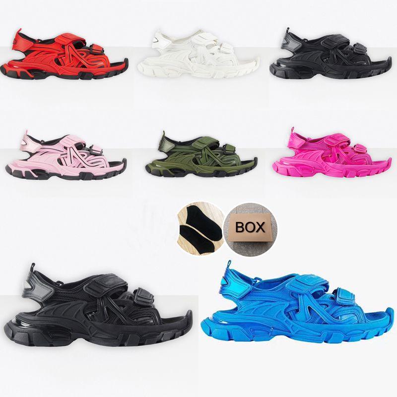 2020 Sandalias de la pista 3.0 Zapatillas Rosa Blanco Hombres Mujeres Track Slide Sandal Sandal Sandal Plataforma Deportes Resistente a la mujer Triple Snarkers Zapato