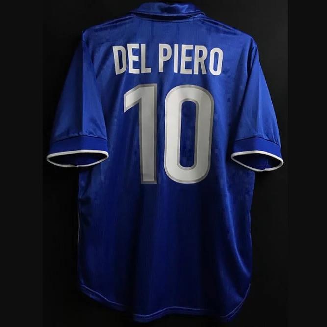 Retro 1996 1997 1998 Itália Jerseys de futebol Maldini Rossitto Nesta Albertini Baggio R. Del Piero Torricelli 96/98 Camisa de futebol retrô 2xl
