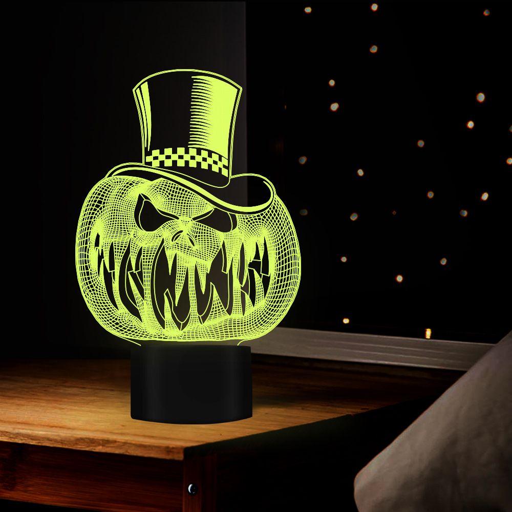 할로윈 홈 호박 얼굴 야경 야간 조명 침대 옆 간호 램프 충전 LED USB를 7 개 색상 변경 LED 터치 장식 테이블 램프