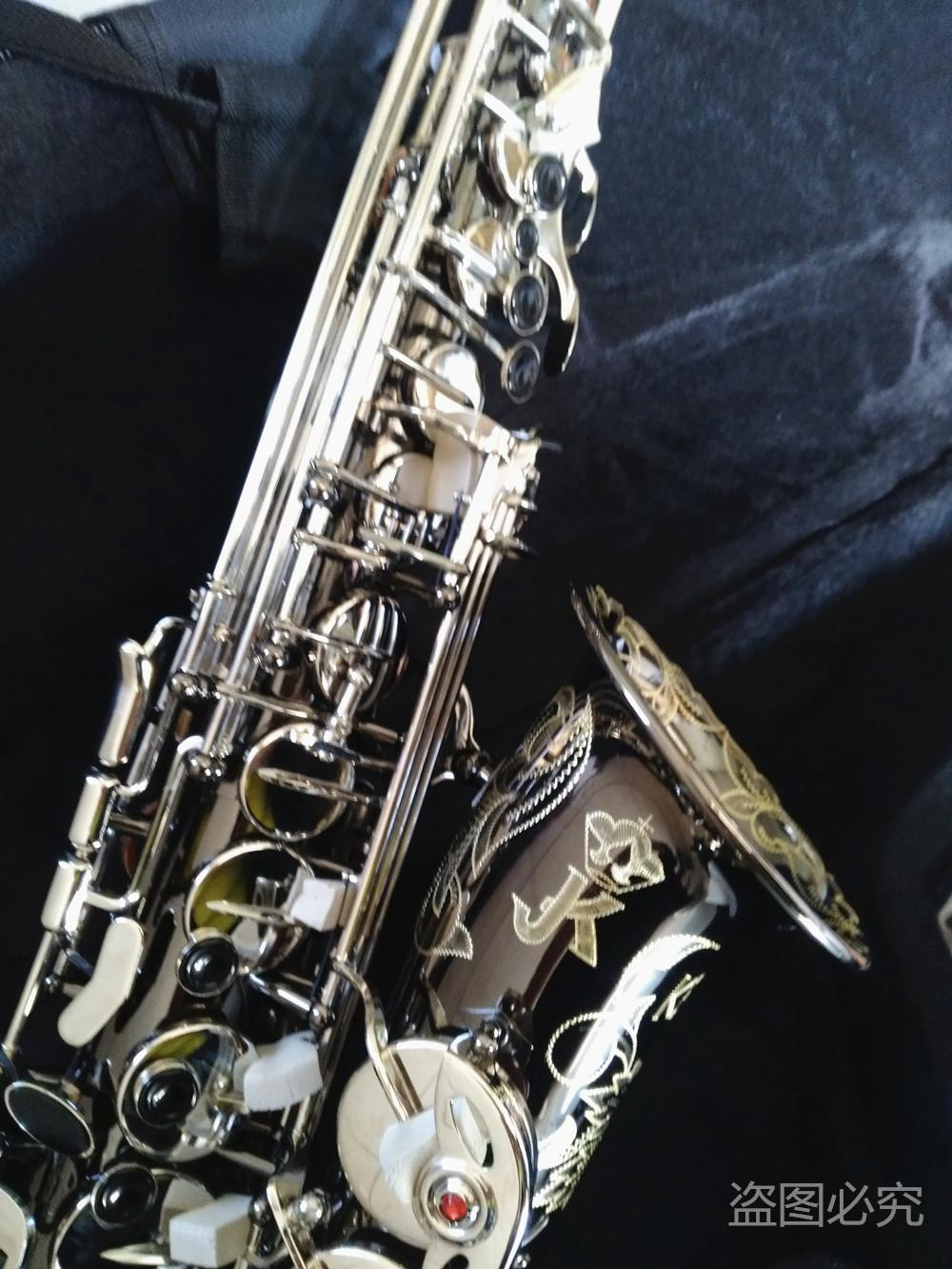 Copia Germania JK SX90R Keilwerth Sassofono reale Foto in bianco NickeI professionista di strumenti musicali con il sax Bocchino