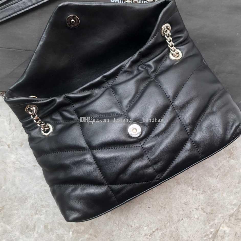 Designer-Tasche Modische Damen Handtaschen Umhängetaschen aus Lammfell weiches und empfindliches Gefühl wie Umarmung Wolken Matte Hardware