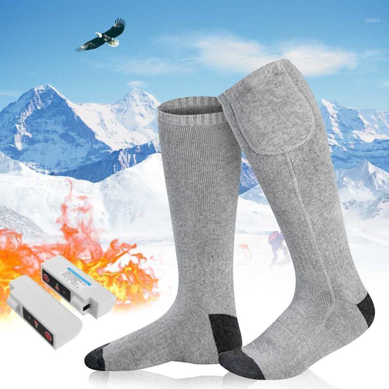 Spor Çorap 1 Çift Elektrikli Isıtmalı 3 Adımlar Ayarlanabilir Kayak Erkekler Kadınlar Için Kış Isınma Bisiklet Yürüyüş Snowboard1