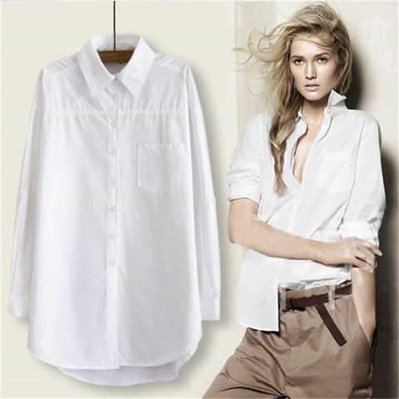 2021 новый 100% элегантный длинный рукав белая рубашка парня стиль блюса топы женские уличные одежды повседневные хлопковые блузки женщины z3ki
