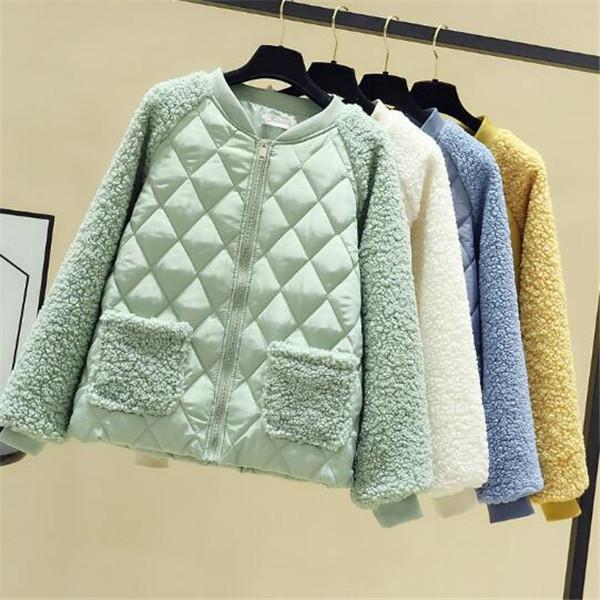 2020 autunno inverno giacche di cotone giacca di cotone corta casacca cardigan versione coreana delle donne nuovo stand bavero del cappotto tuta sportiva di modo