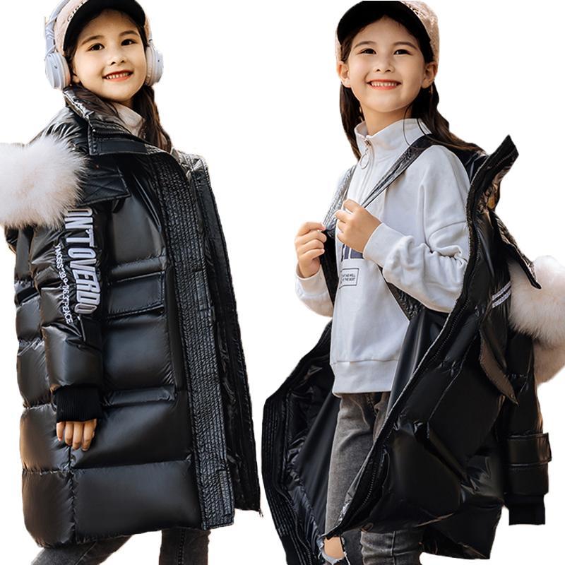 -30 Степень зима пуховик для мальчиков Управляющий новый утолщение теплые парки детская одежда девушка верхняя одежда Snowsuit 4-14Y 201127