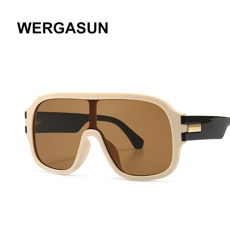 Brand Design Lunettes de soleil Mode Femmes surdimensionnée Vintage Lunettes de soleil Men Shades Lunettes Oculos de sol UV400