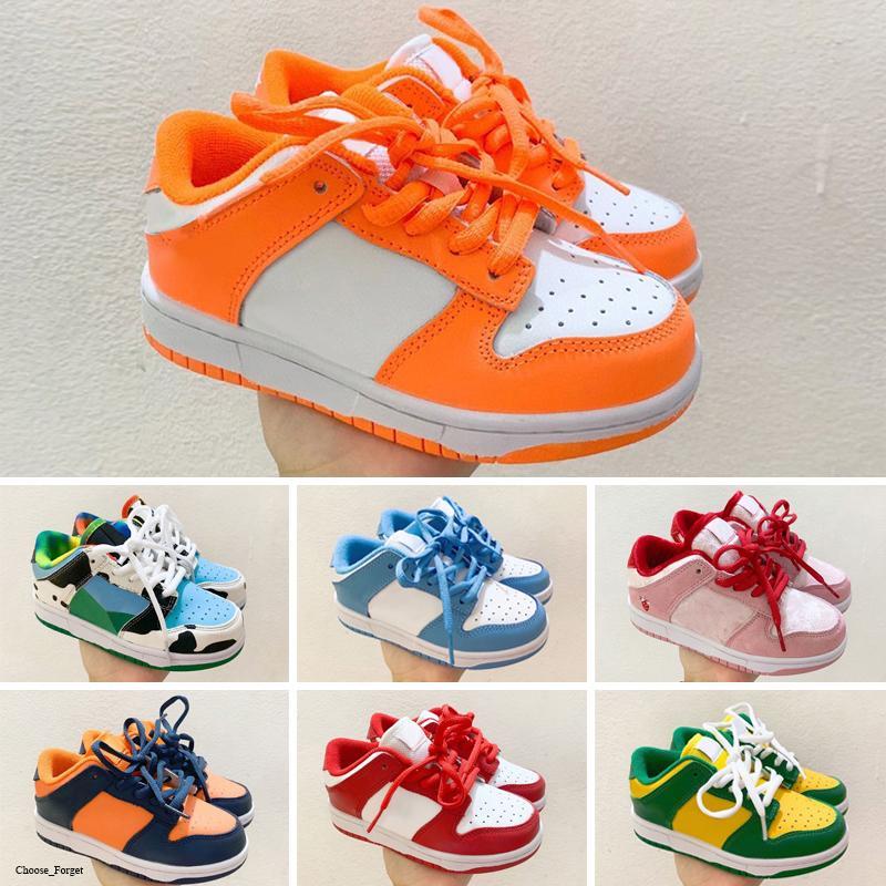 Dunk Low Ben Jerry's SB meninos meninas da criança do bebê Running Shoes Designer de Luxo Marca Calçados Infantis J 6 Crianças menino e Gril Esporte Sneaker Atletismo Basquete