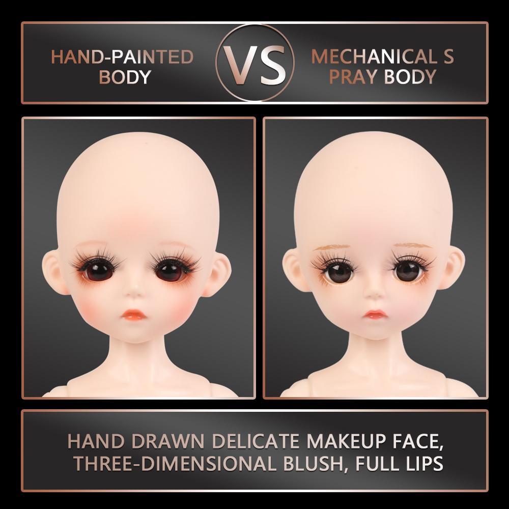30CM Corpo nu da BJD Boneca 1/6 BJD 25 peças podem ser removidas junta articulada corpo sem Outfits Meninas Vestem Dolls Maquiagem 1011
