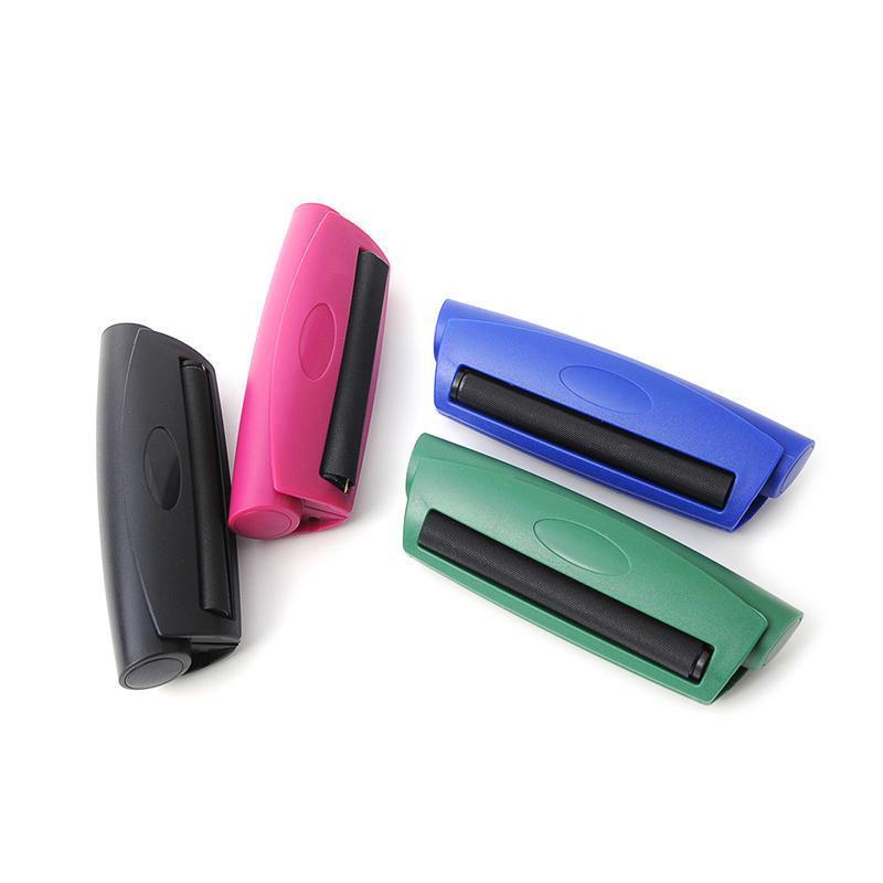 110 mm Kunststoff Manuelle Zigarettenhersteller Tabak Rolling Maschine Tragbare Hand Tabakrolle Für Rauchen Walzpapierschleifer