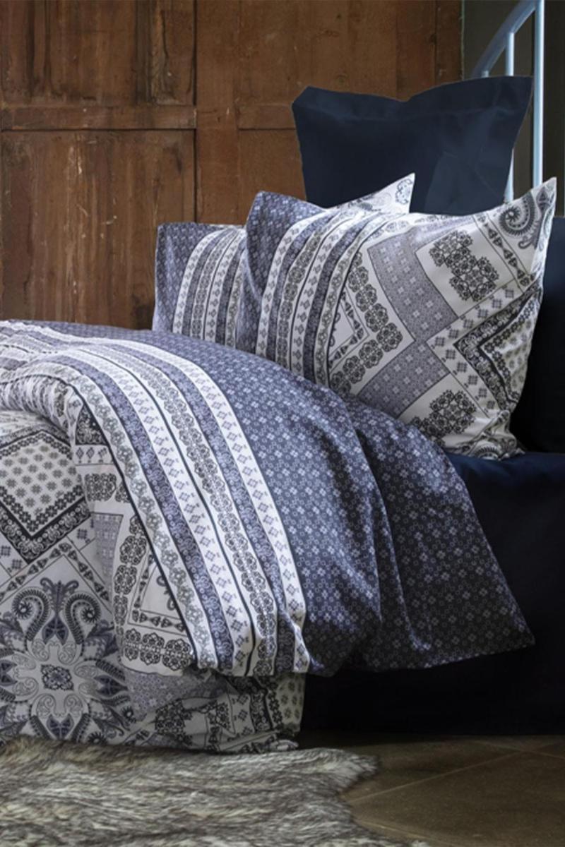 Serket- Seraya Double Ranforce Duvet Cover Set، مجموعة غطاء لحاف واحد. مجموعة سرير ملكة توأم. القطن ناعم ونافت.