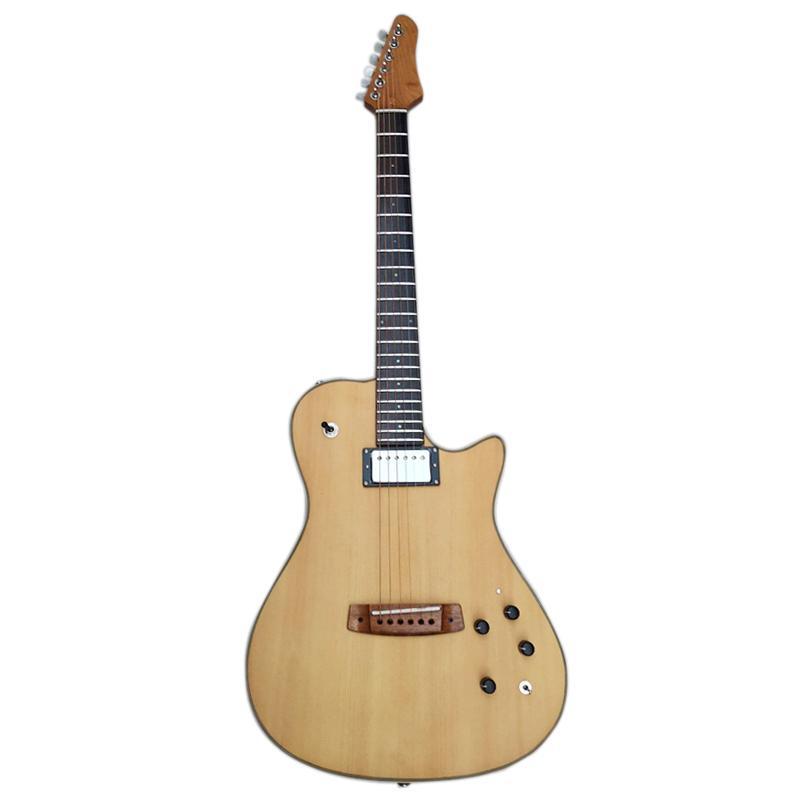 guitarra acústica silenciosa elétrica portátil construído no Frete grátis Top efeito abeto