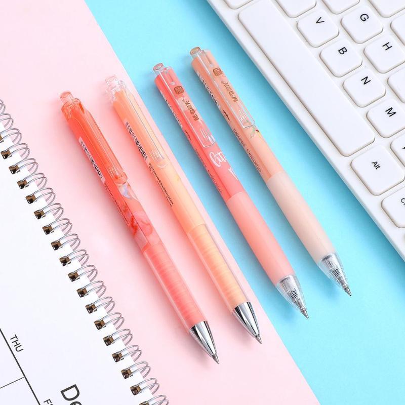 Jianwu 1 stück Kawaii Peach Series Begrenzung Gelstifte 0.5mm Schwarze Tinte Weiche Stift Niedliche Modellierung Typ Neutraler Stift für Studenten Schreibwaren1
