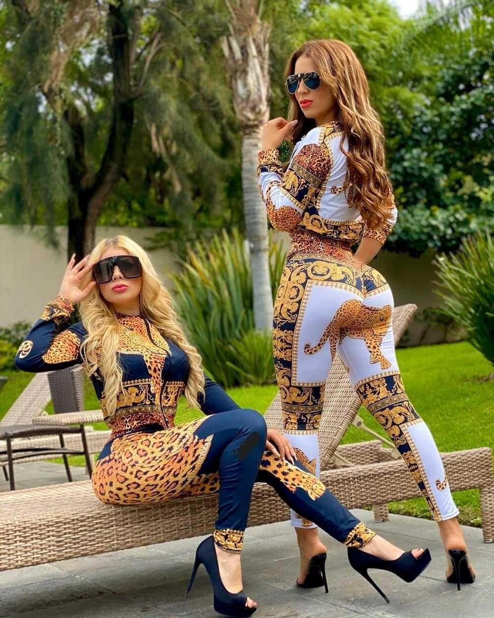 Mode frauen anzug mit heißer verkauf digital gold druckamerika casual stil zwei stücke anzug trainingsanzug frauen winter outfits frauen kleidung