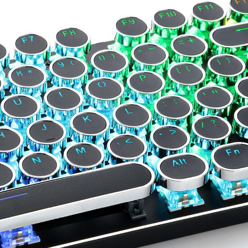 104 Tasten Retro Runde Keycaps Double Shot DIY Schreibmaschine Keycap für Backlit Mechanische Tastatur Kreisschlüsselkappe