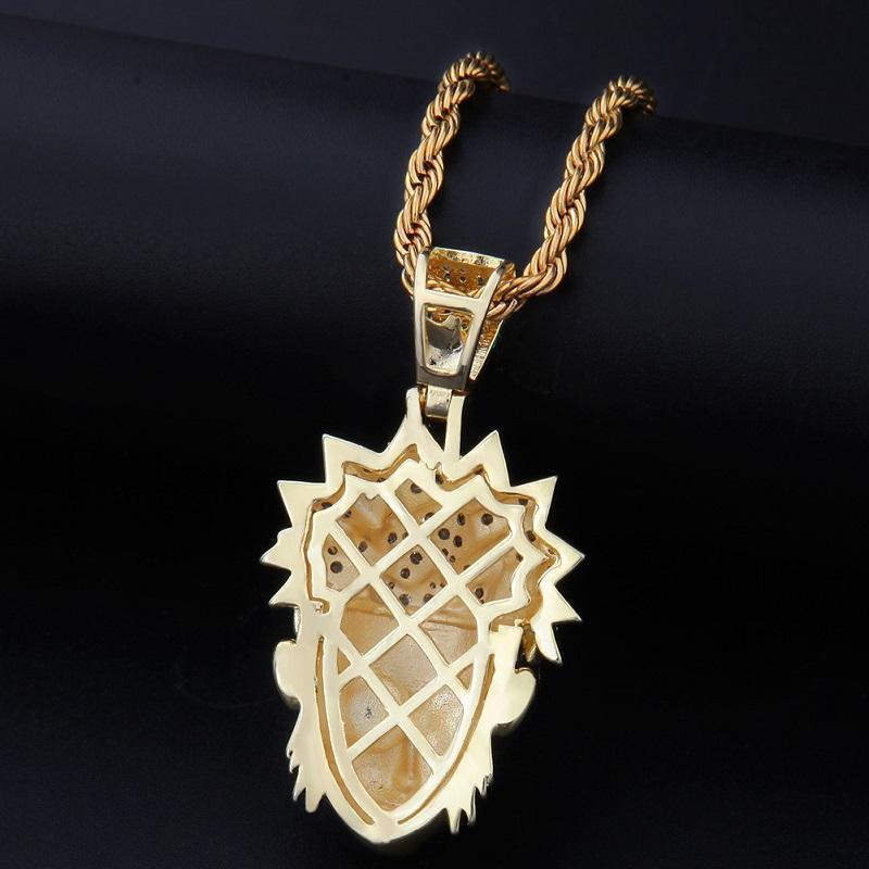 Cartoon personaggi collana dei nuovi uomini di Hip Hop Anime Naruto modo della collana del pendente gioiello della catena 14K Gold