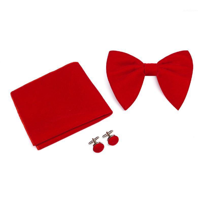 ربط الرقبة القوس التعادل عالية الجودة المخملية المرأة الرجال الأعمال مأدبة عرس الرجل أفخم ربطة أزرار أكمام ساحة منشفة مجموعة هدايا