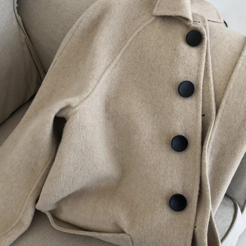 Novo casaco de cashmere 2021 Outono e inverno temperamento windbreaker casaco sobre joelho longo lã cashmere woolen feminino w033