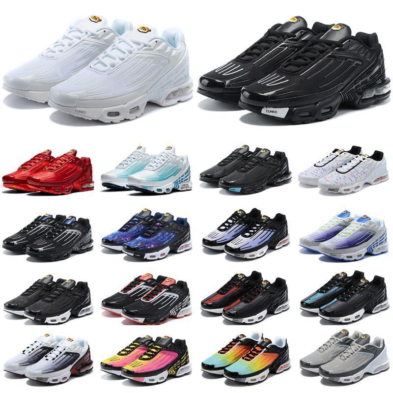Neueste Laufschuhe Tn Plus 3 Männer Chaussures III Dreifach weiß Schwarz Irisierende Hyper Blau Oreo Mens Damen Outdoor Trainer Turnschuhe Sport