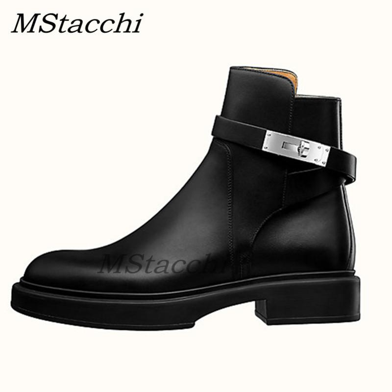 MStacchi New Women Short Boots For Women Round Toe Thick Bottom Booties Fashion Ladies Platform Casual Party Shoes Woman 201105