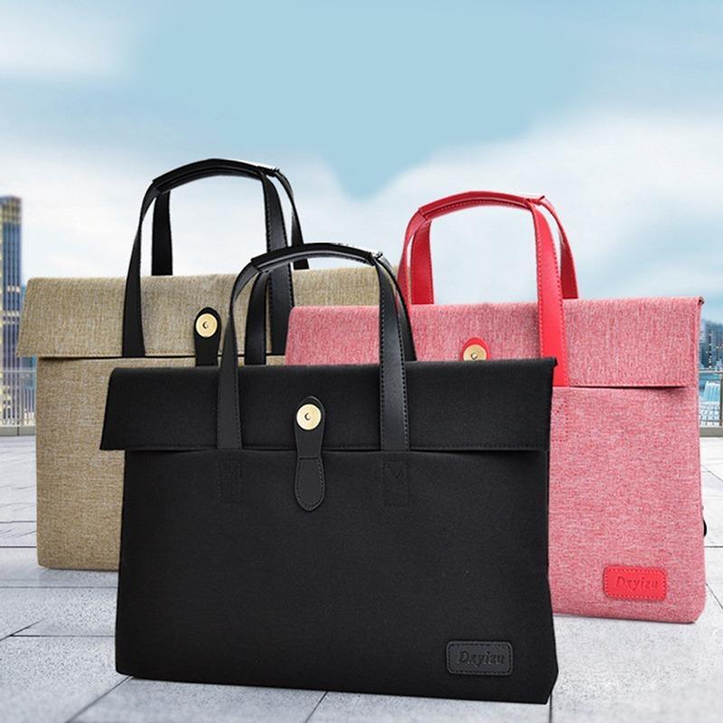 HBPUniversal bussiness Pink Black laptop bag Computer Handbag Travel Briefcase Notebook Case Bags 38*35cm Carrying Q0112