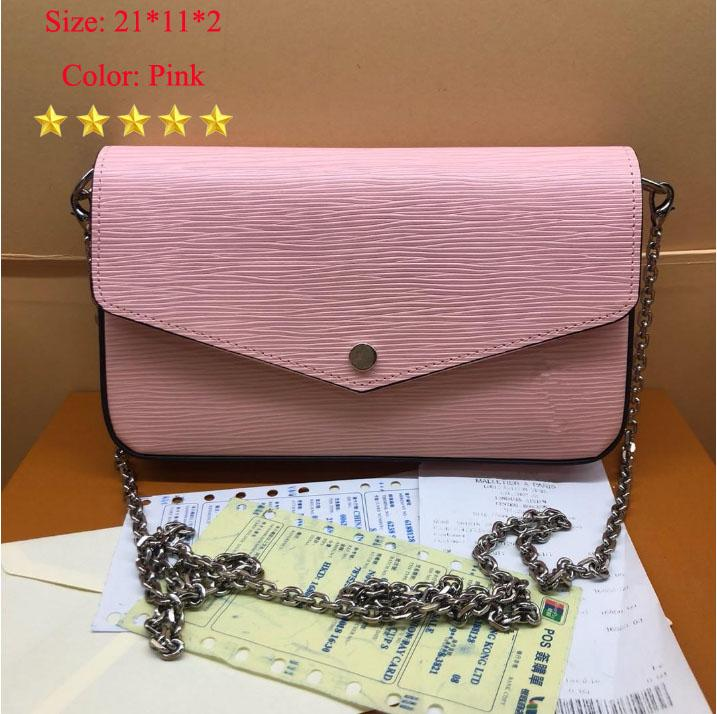 LB100 High 21*11*2 Luxury Bags Purses Fashion 61276 Women Designer Shoulder Bags Brand Quality Model Bag Size Designer Newest Cm Handba Toel