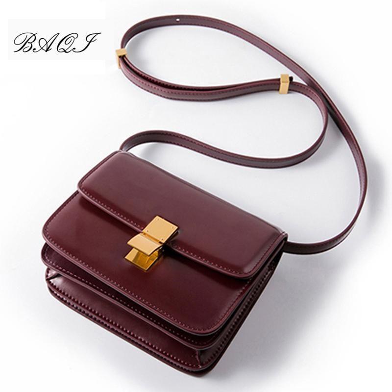 Baqi donne borse di marca del cuoio genuino delle donne borse a spalla Crossbody Messenger Borse ragazze modo di alta qualità Lady Flap Bag