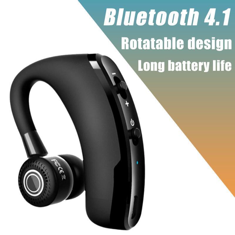 V8 V9 핸즈프리 비즈니스 V9 블루투스 헤드폰 마이크 음성 제어 무선 이어폰 블루투스 헤드셋에 대한 드라이브 소음 차단