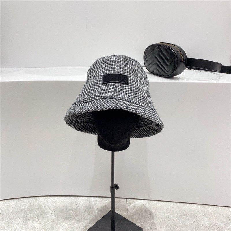 Eimer Hut Neueste Herren Frauen Caps Herbst Winter Klassische Plaid Hüte Frühlingsliebhaber Sonnenschirm Hut Avantgarde Mode Collapsible Anti-UV