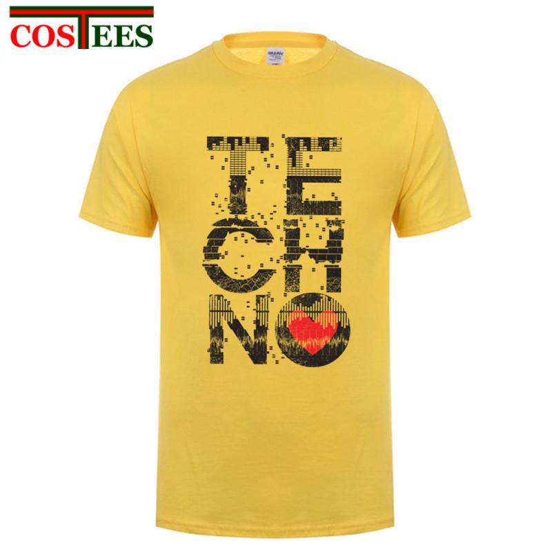 Love Techno Musica personalizzata Costume Adolescente girocollo originale Detroit Techno Tops personalizzato Felpa con cappuccio degli uomini della maglietta