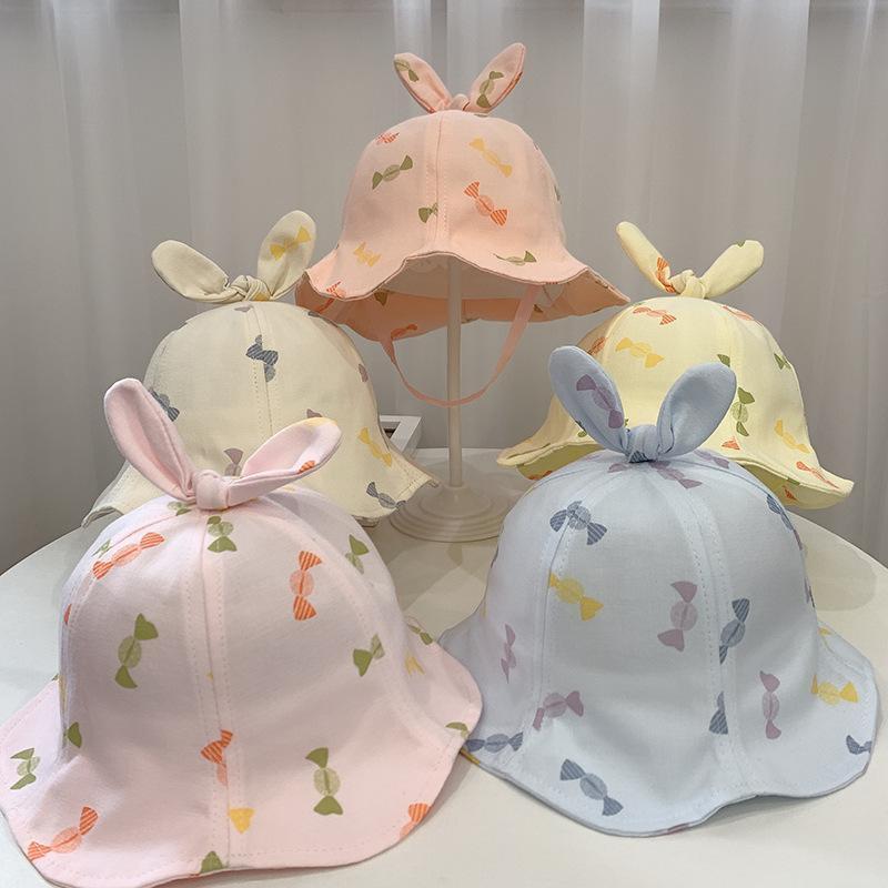 Bebek Balıkçının Şapka Bahar Ve Yaz Yeni Karikatür Şeker Renk Çocuk Şapka Havzası Açık Güneşlik Güneş Moda