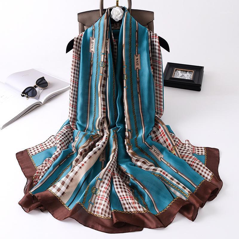 Schals 2021 Herbst China Mode Seide Luxusurlaub Schal Strand Weiche Headcloth Damen Sommer Dünne Sonnencreme Print Shawl1