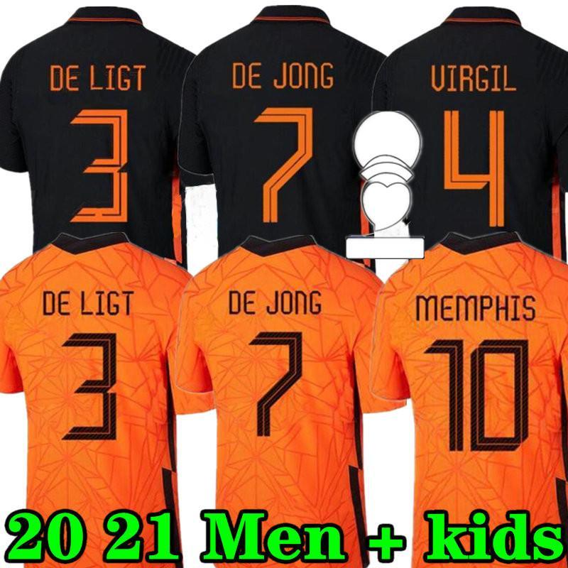 Memphis 2021 Niederlande Fußball Hemd De Jong Holland de Ligt Strootman van Dijk Virgil 2022 Football Jersey Erwachsene Männer + Kids Kit