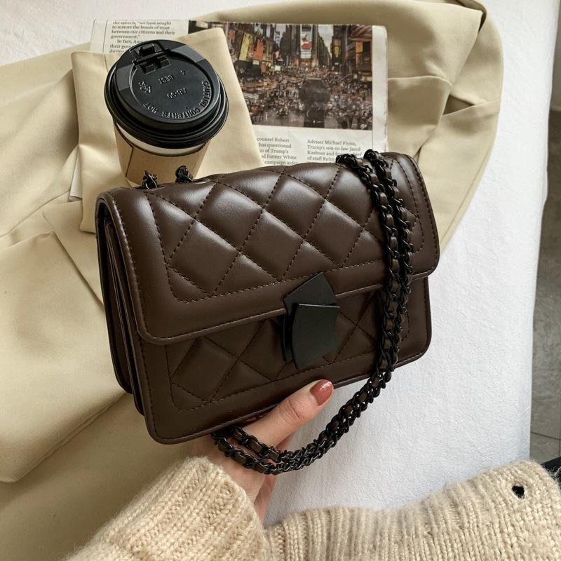 HBP messenger bag handbag handbag designer New design woman bag high quality texture fashion fashion shoulder bag chain Check Casual